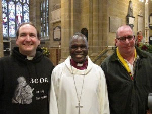 Robb and Alan meeting Bishop Hilkiah