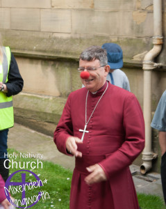 Bishop Stephen enjoys the party!